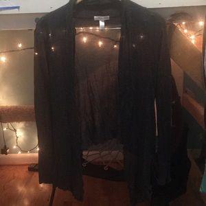 Light weight thin dark gray cardigan